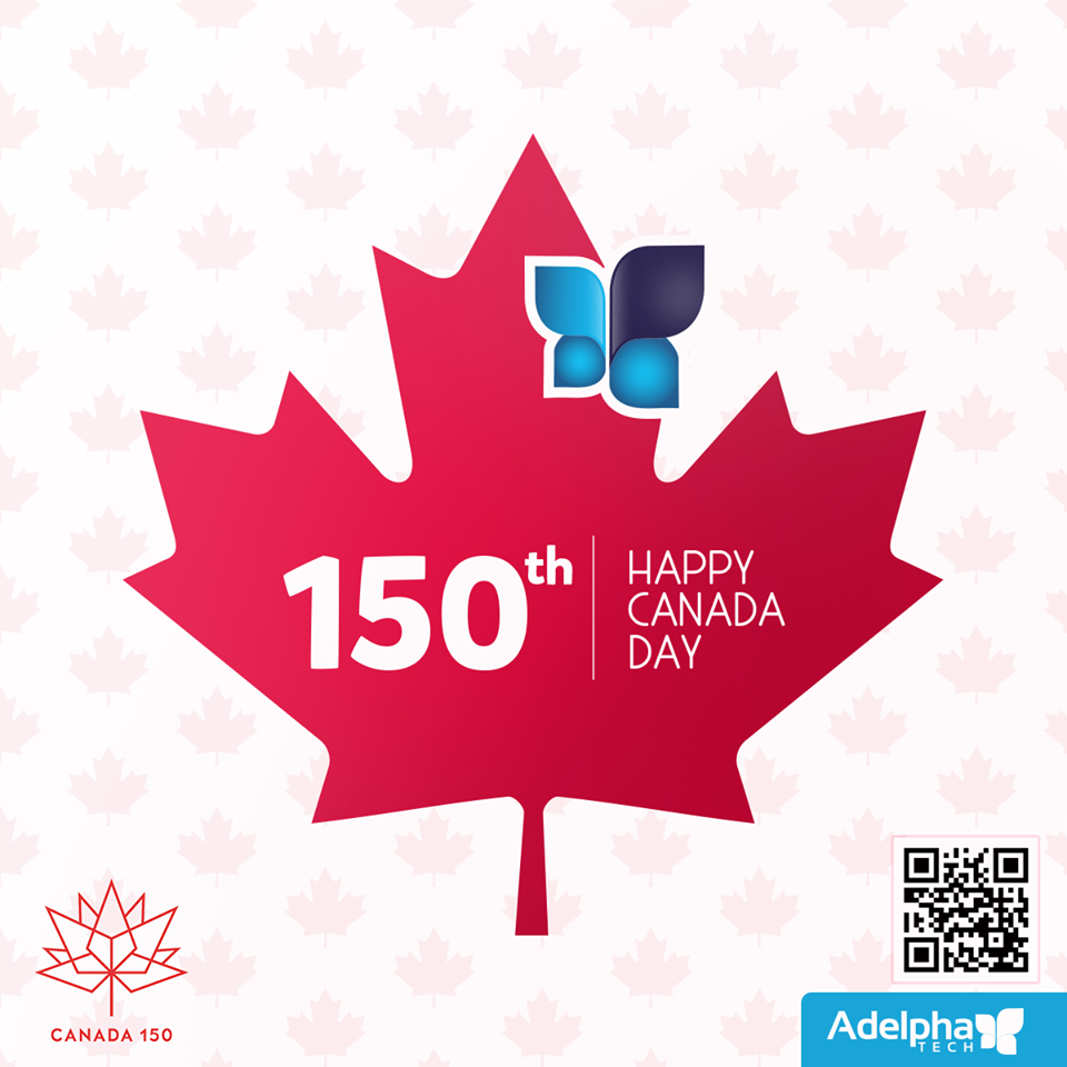 AdelphaTech celebrating Canada's 150th!